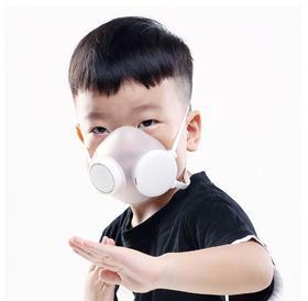 blue&blue咘噜电动风扇助力 360°密封儿童净化器口罩
