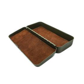 美国复古金属真皮内衬眼镜盒