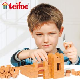 自己砌砖造房子!德国进口 teifoc 建筑DIY玩具!德国学校指定科学教具,培养立体空间感、专注力、逻辑思维能力!