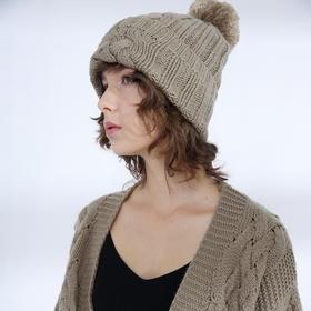 SYUSYUHAN设计师品牌 巴素兰羊毛重磅加厚粗针麻花大毛球帽子