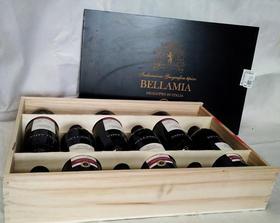 贝拉米兰干红葡萄酒 意大利原装进口酒,木箱装