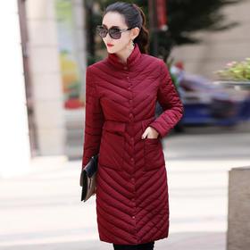 韩版时尚冬季中长款修身棉服外套  XYN1709
