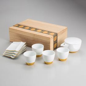 【金箔茶具】喫茶套装礼盒 日本金泽箔