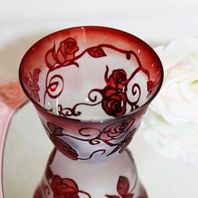 【蔷薇】限量作家手工雕花玻璃酒杯酒盅蜡烛杯