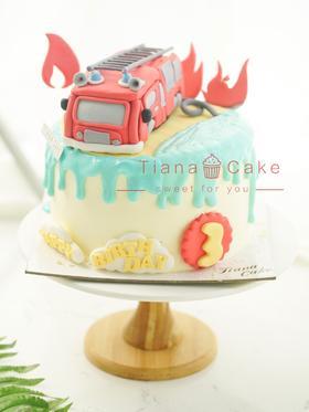 消防车蛋糕 卡通汽车