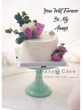 鲜花蛋糕 唯美