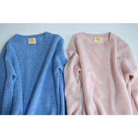 羊绒100% - 女小圆领长袖套头衫 - L002