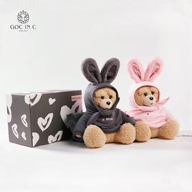 GOC IN C联名DUEPLAY新品兔子熊热水袋安全防爆暖手宝充电电热宝