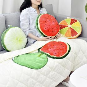 水果抱枕被子两用 空调被 抱枕  文具