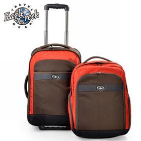 【秒杀产品】美国 Eagle Creek 探索2红褐/咖啡色18英寸组合型拉杆箱(48cm,箱34.4L,背包16L)