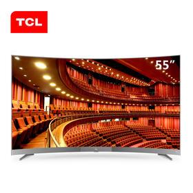 TCL 55A950C  55英寸曲面4K超薄电视  航天级铝材机身   ,8.6mm金属窄边 人工智能语音