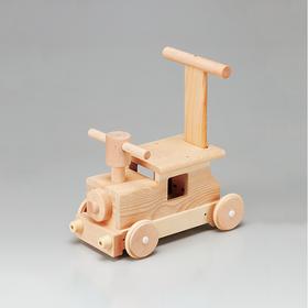 【森林里的汽车】木制小推车 日本制安心玩具