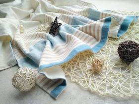 良良格彩竹纤维长浴巾 宝宝浴巾新生儿包巾方浴巾竹纤维浴巾新款