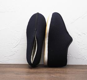 藏蓝色加厚老北京千层底棉鞋