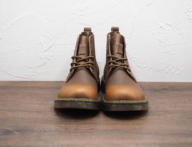 油蜡男士系带马丁短靴