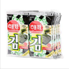 韩国进口 海苔 海牌烤海苔原味16G袋 海产品零食