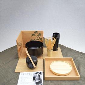 【喫茶箱】便携式抹茶喫茶套装 木箱
