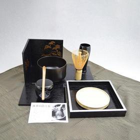 【喫茶箱】便携式抹茶喫茶套装 黑木箱