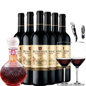金装98华夏长城橡木桶红酒整箱国产赤霞珠干红葡萄酒