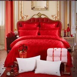 欧式提花七件套/婚庆提花套件送枕芯送被芯