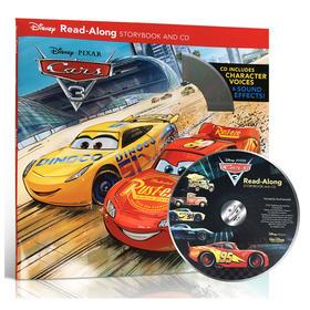 英文原版Cars 3 Read-Along Storybook with CD Disney迪士尼赛车汽车