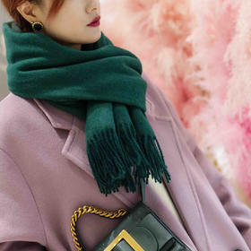 30%羊毛 纯色流苏围巾 多色