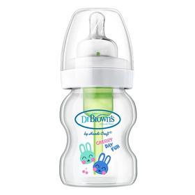 布朗博士爱宝选晶彩宽口玻璃奶瓶瓶防胀气150ml