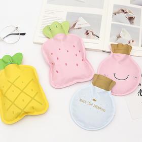 韩国清新可爱布面暖手袋PVC注水式   文具