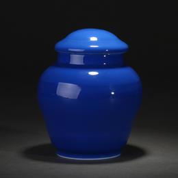 宝瓷林 宝石蓝茶叶罐 高温颜色釉