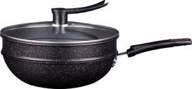 麦饭石养生蒸炒锅