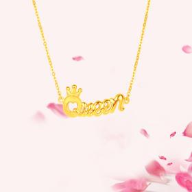 My Queen 3D足金套链