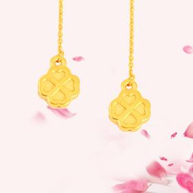 花型 3D足金耳线