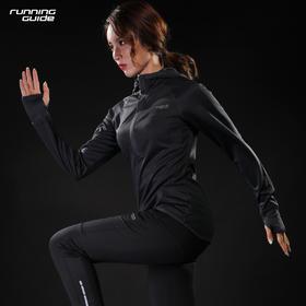 跑步指南8214 女款半拉链长袖带帽运动T恤 - 极致穿着体验