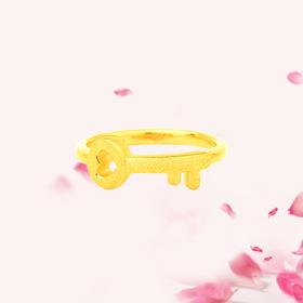 启·爱 3D足金戒指