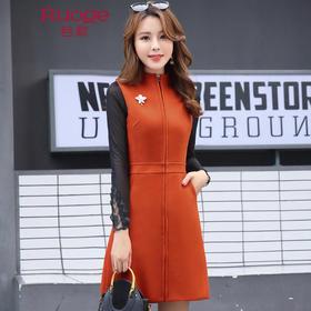 时尚韩版修身无袖加厚毛呢连衣裙 GSTX5816