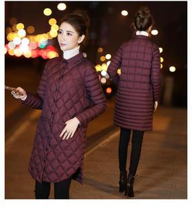 【美货】秋冬季新款韩国黑色轻薄羽绒服女中长款轻薄薄款外套韩版潮