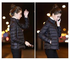 【美货】冬季新款短款轻薄大码修身显瘦轻便羽绒服女韩版轻薄薄款外套