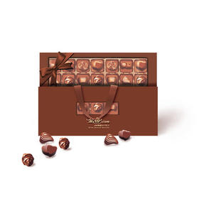 金帝夹心巧克力306g金装礼盒装休闲零食送女友礼物送女朋友送礼袋