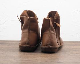 侧拉链软底套脚女士短靴