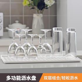日本沥水架塑料碗碟架水槽架杯子滤水蓝厨房碗筷沥水篮厨房置物架