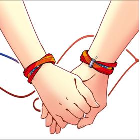 新海诚《你的名字》周边 同款手绳(1根入):情侣闺蜜用 可作头绳