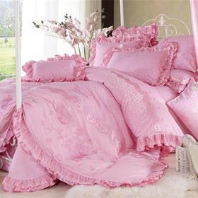 婚庆床盖十件套-玫瑰情缘