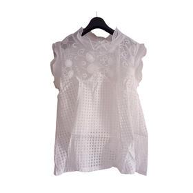 夏装新款白色镂空勾花百搭裙空调裙