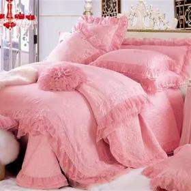 婚庆床盖十件套-粉色佳人