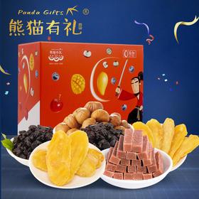 腻腻水果武士 特色果干组合,(蓝莓干*2+芒果干*2+板栗仁+山楂)四种风味果干,满满享受。