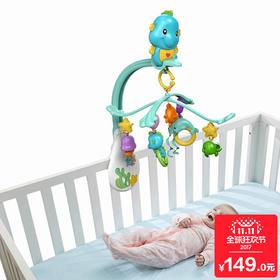 费雪床铃 0-6个月新生儿音乐安抚旋转床铃 3合1婴儿床铃挂件玩具