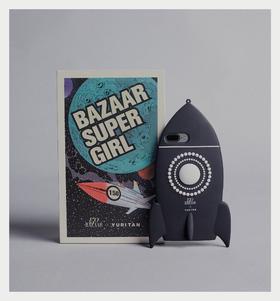 YURI TAN X BAZAAR 150周年跨界限量火箭手机保护壳  黑色/粉色