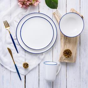 bunny蓝边碗:北欧风餐具,不用洗洁精的餐具,可以慢慢享用每一餐了。
