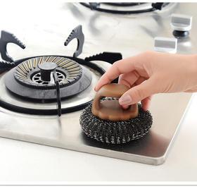 【49选5】【从此告别洗锅脏手的烦恼】日本原装进口SP SAUCE 不锈钢新款手柄洗锅刷 有效去渍 保护双手