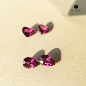天然紫色石榴石裸石